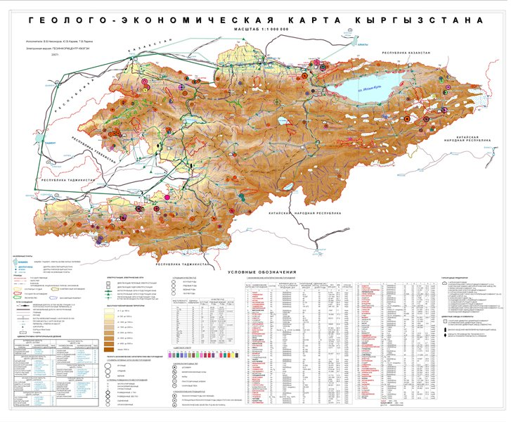 Geological map of Kyrgyzstan